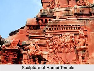 Sculpture of Temples of Hampi, Karnataka