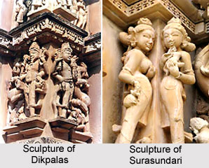 Sculpture of Dikpalas Surasundari