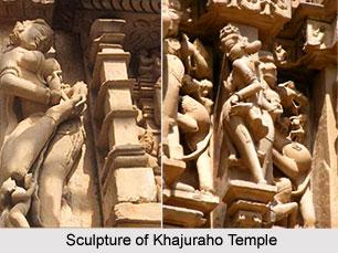 Sculpture of Khajuraho Temple