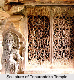 Sculpture of Tripurantaka Temple