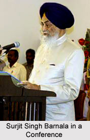Surjit Singh Barnala in a conference