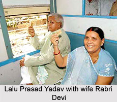 Lalu Prasad Yadav with wife Rabri Devi