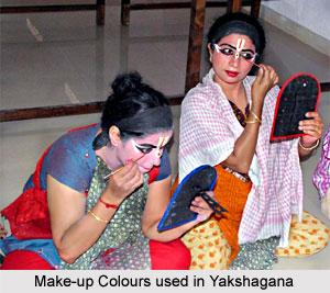 Make-up colors used in Yakshagana