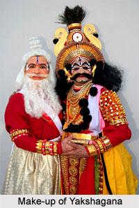 Make-up of Yakshagana