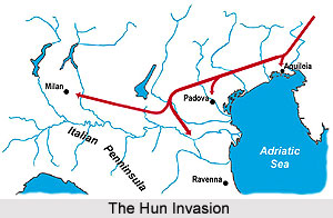 The Hun invasion and its effects