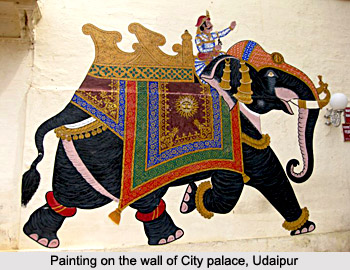 Painting on the wall of City Palace