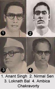 Anant Singh Ambica Chakravorty Loknath Bal And Nirmal Sen