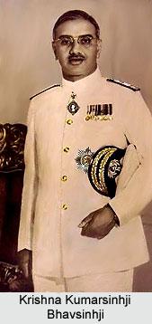 Krishna Kumarsinhji Bhavsinhji, Maharaja of Bhavnagar