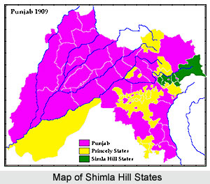 Shimla Hill States, Princely States of India