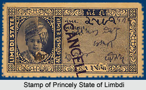 Stamp of Princely State of Limbdi