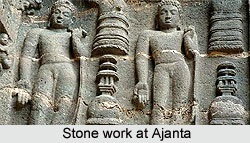 Stone work at Ajanta