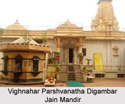 Vighnahar Parshvanatha Digambar Jain Mandir, Mahua, Gujarat