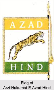 Flag of Arzi Hukumat E Azad Hind