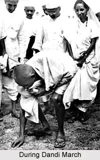 Gandhiji during Dandi March
