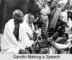Gandhiji making a speech