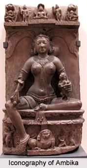 Iconography of Ambika, Khajuraho