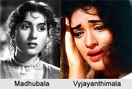 Madhubala and Vyjayanthimala