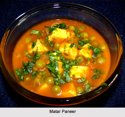 Matar Paneer, Indian Vegetables