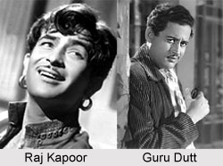 Raj Kapoor and Guru Dutt