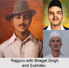 Rajguru with Bhagat Singh and Sukhdev