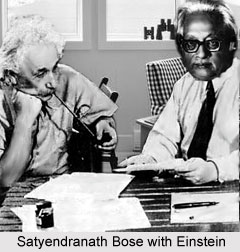 Satyendranath Bose with Einstein