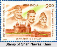 Stamp of Shah Nawaz Khan