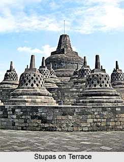 Stupas on Terrace