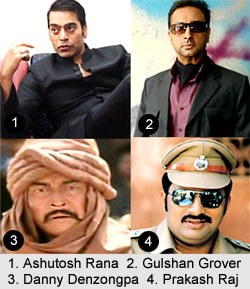 Indian Movie Villains - Ashutosh Rana  Gulshan Grover  Danny Denzongpa  Prakash Raj