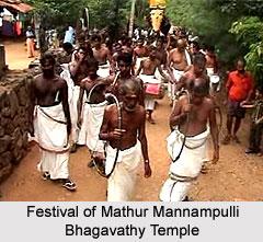 Festivals of Mathur Mannampulli Bhagavathy Temple