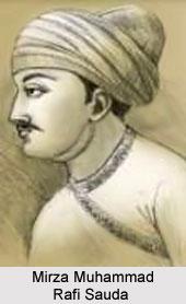 Mirza Muhammad Rafi Sauda, Urdu Poet