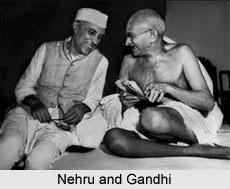 Pandit Nehru and Gandhiji