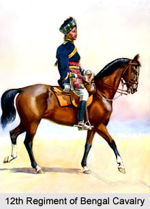 12th Regiment of Bengal Cavalry, Bengal Army