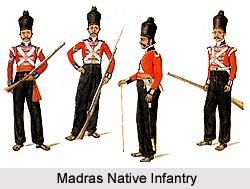 19th Madras Native Infantry, Madras Army