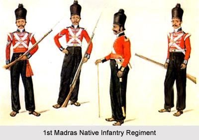 1st Madras Native Infantry, Madras Army
