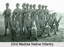 23rd Madras Native Infantry, Madras Army