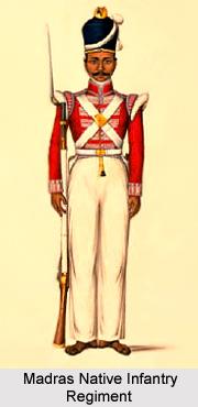 27th Madras Native Infantry, Madras Army