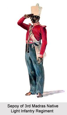 3rd Madras Native Light Infantry, Madras Army