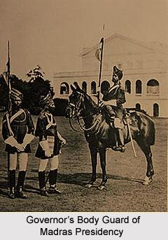 Governor's Body Guard of Madras Presidency, Madras Army