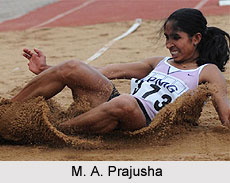 M. A. Prajusha, Indian Long Jumper