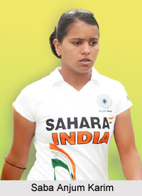 Saba Anjum Karim  , Indian Hockey Player