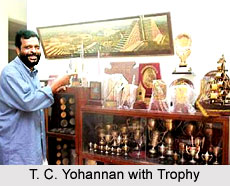 T. C. Yohannan with Trophy