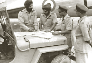 Briefing pilots for an operational flight at imphal