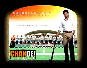 Shahrukh in film Chak De India