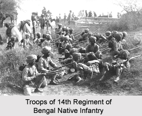 14th Regiment of Bengal Native Infantry, Bengal Army