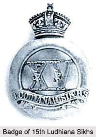 15th Regiment of Bengal Native Infantry (Ludhiana Sikhs), Bengal Army