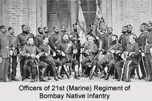 21st (Marine) Regiment of Bombay Native Infantry, Bombay Army