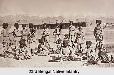 23rd Bengal Native Infantry, Bengal Army