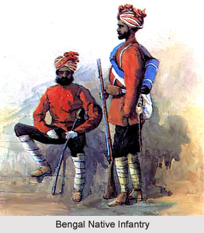 25th Regiment of Bengal Native Infantry, Bengal Army