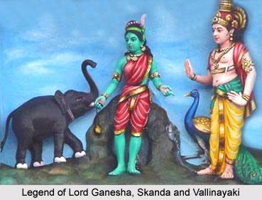 Legend of Lord Ganesha, Skanda and Vallinayaki