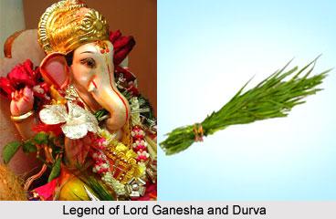 Legend of Lord Ganesha and Durva